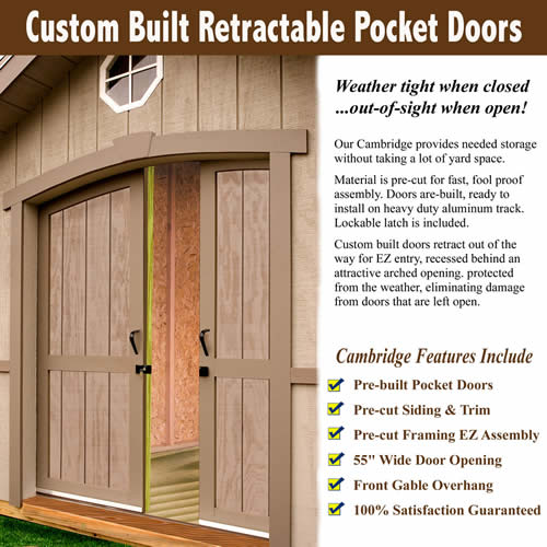 Cambridge Shed Pocket Door