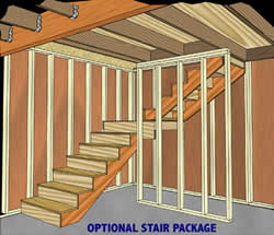 Shed Kit Stair Package