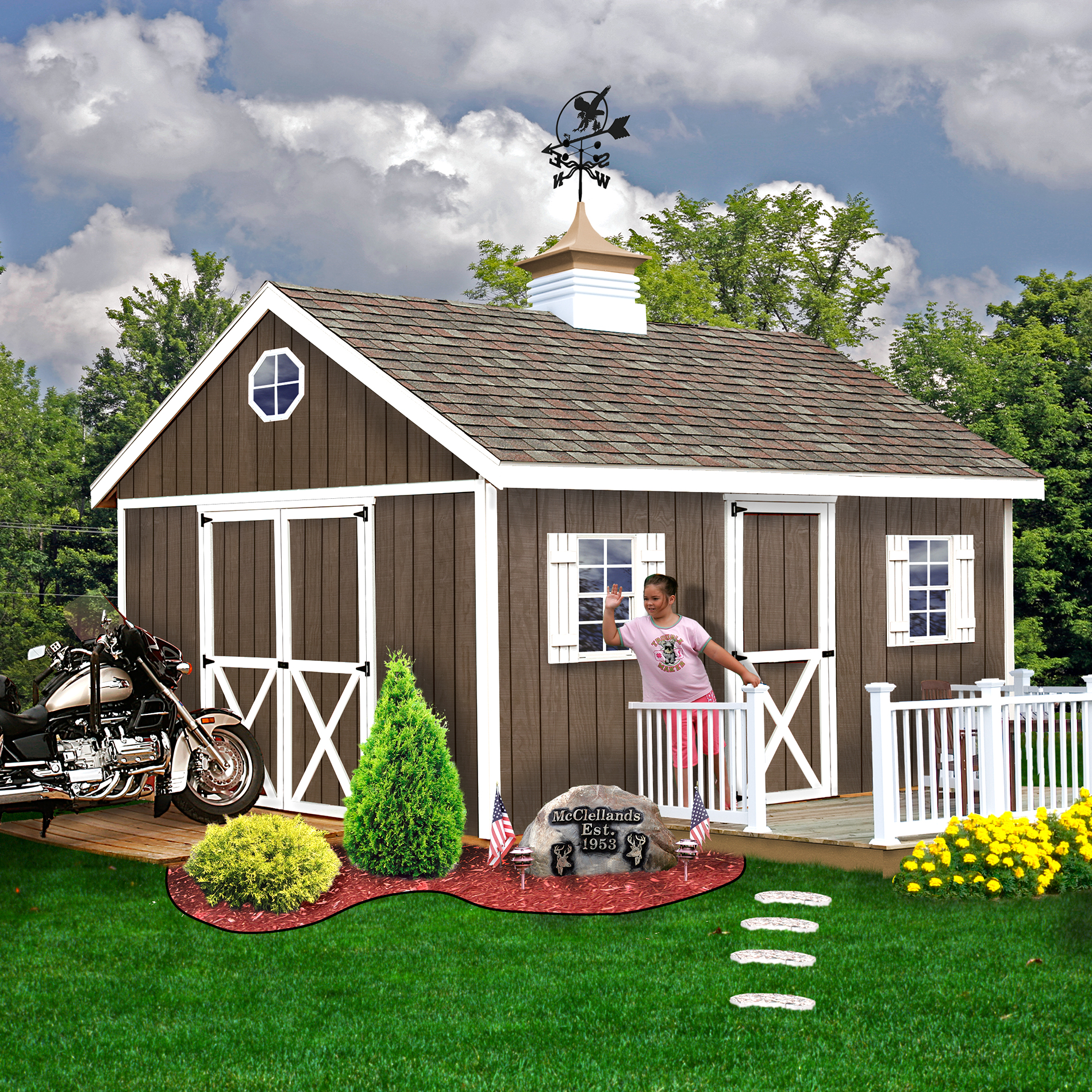 Best barns easton 12x20 shed kit lawn garden sheds for Best small garden sheds
