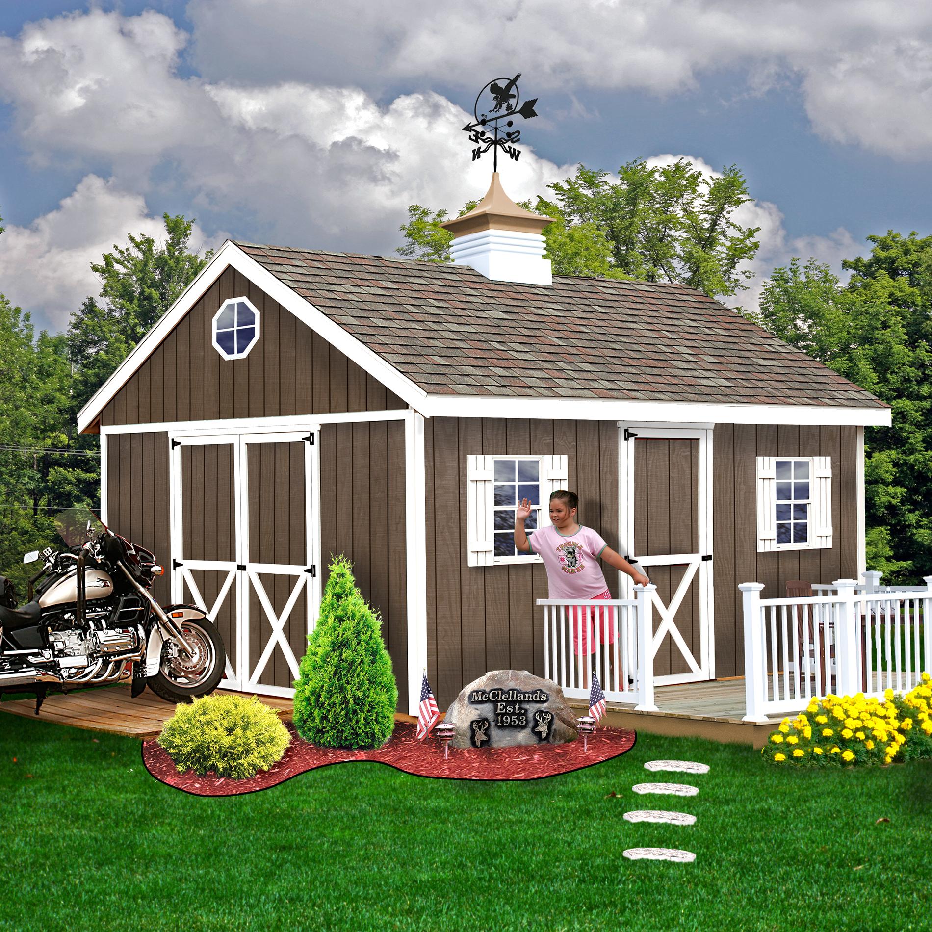 Best Barns Easton 12x20 Shed Kit Lawn Amp Garden Sheds