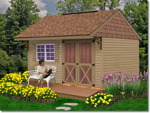 Clarion 14 39 x10 39 10 39 x 10 39 shed kit for Garden shed 10x10