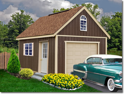Glenwood 12 39 wide garage kit for Large garage kits
