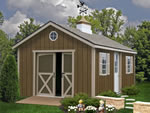 Wooden Storage Shed Kit